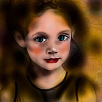 Portret klein meisje van Raina Versluis