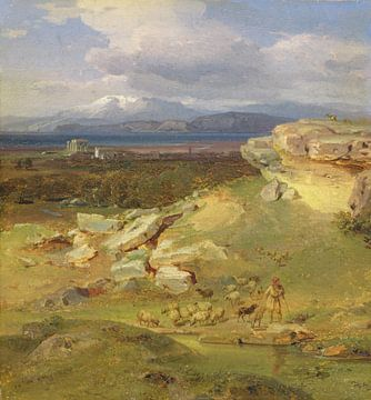 Landschaft bei Korinth - Carl Rottmann