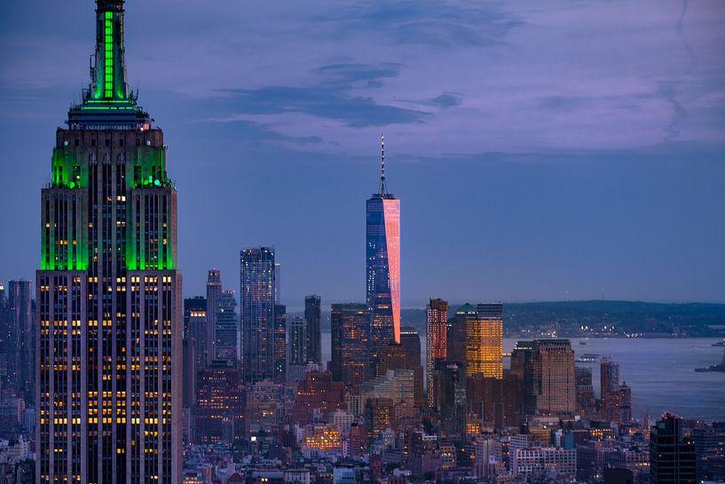 New York   Abendstimmung van Kurt Krause