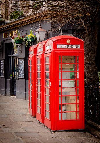 Britse telefooncel in Greenwich, Groot-Brittannië