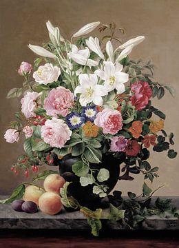 V Hoier-Stillleben mit Blumen und Früchten