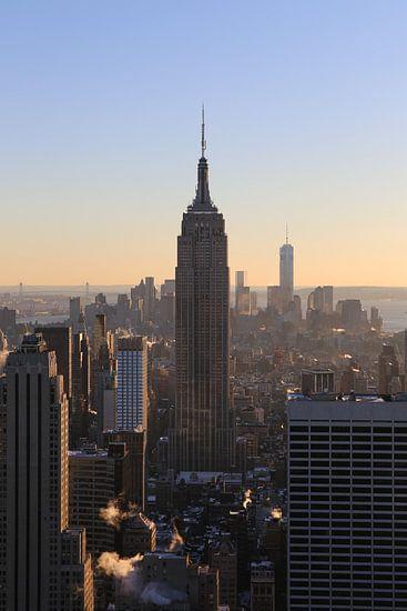 Empire State Building im Sonnenuntergang