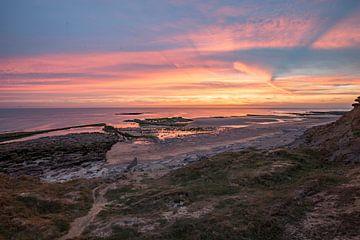 Sonnenuntergang auf den Audressellen von Easycopters