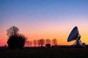 Zonsondergang bij het grote oor in Burum, Friesland