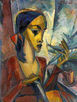 Annemarie (Am Fenster), Dorothea Maetzel-Johannsen, 1920 von Atelier Liesjes