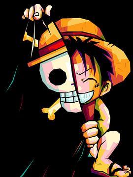 Luffy anime in wpap van miru arts