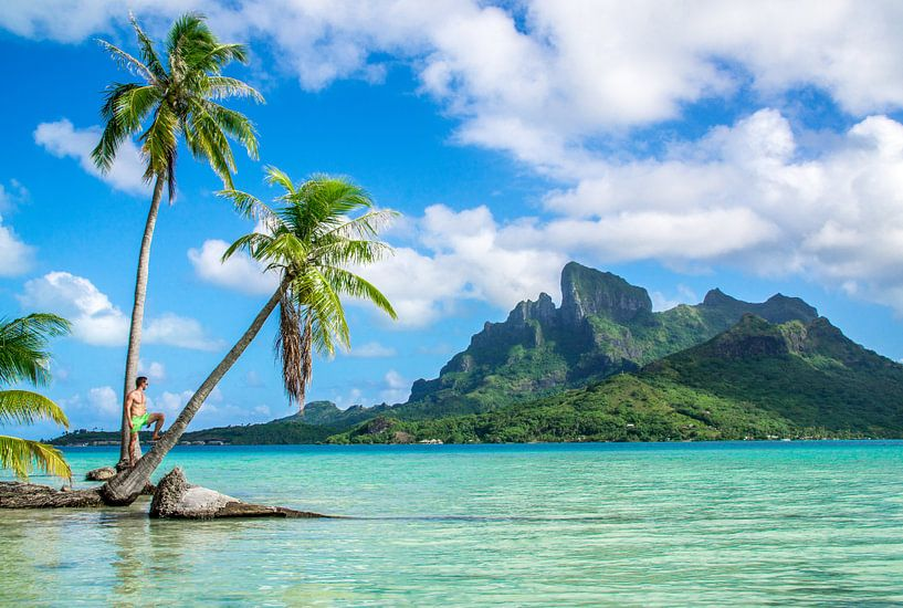 Op een onbewoond eiland op Bora Bora van Ralf van de Veerdonk