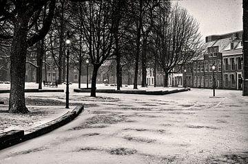 Sneeuwsfeer in Groningen van Fons Bitter