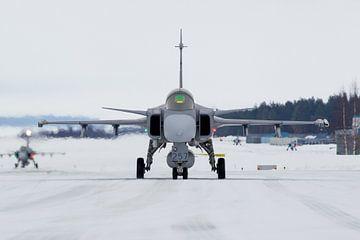 Swedish Air Force JAS-39 Gripen sur Dirk Jan de Ridder