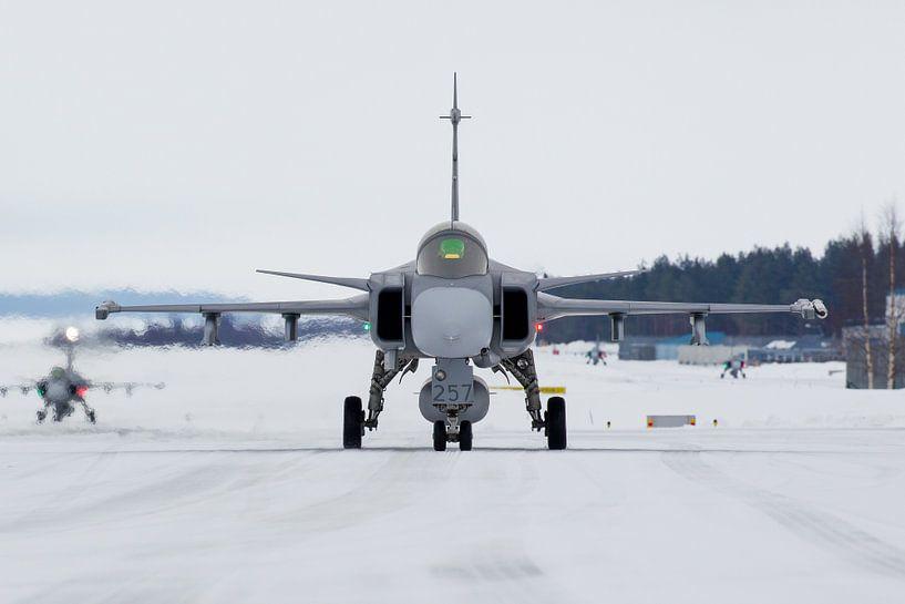 Zweedse Luchtmacht JAS-39 Gripen van Dirk Jan de Ridder
