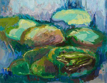 Frosch im Teich von Tanja Koelemij