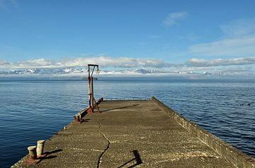 Pier im Norden von Island von Renzo de Jonge