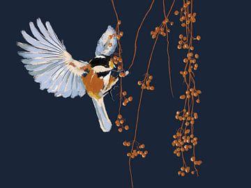 Winter vogel van Studio Carper