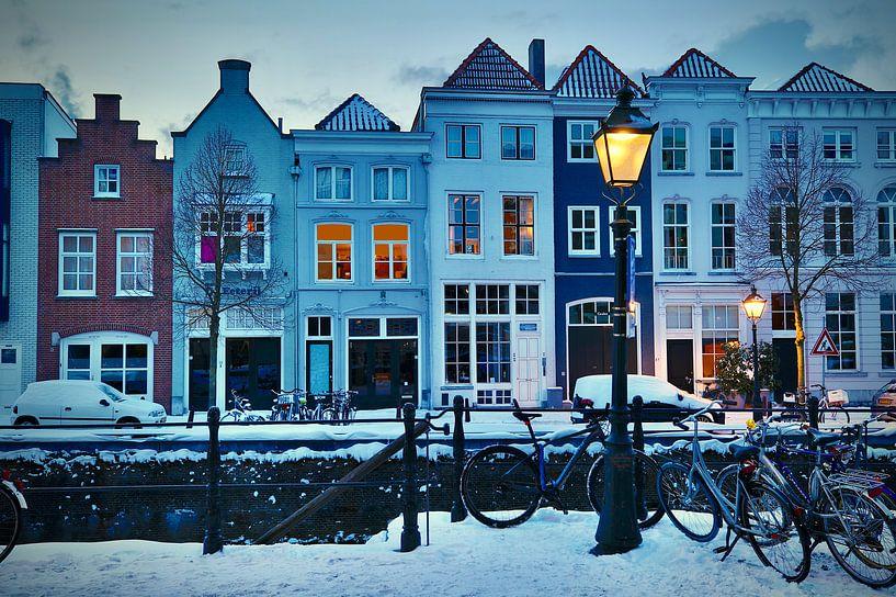 De Brede Haven van Den Bosch in winterse sferen van Jasper van de Gein Photography