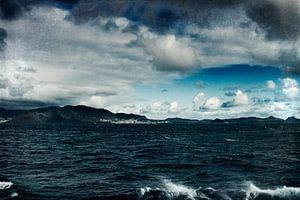 Stormachtige zee van