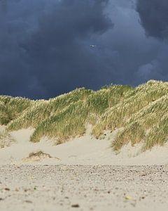 Storm op de waddeneilanden