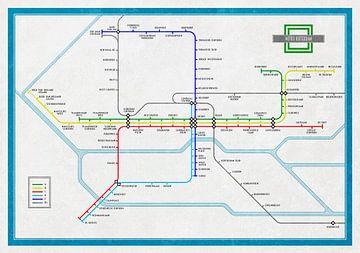 Plan du métro Rotterdam