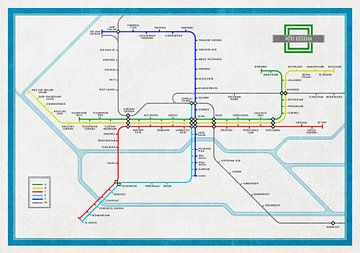 Metrokaart Rotterdam