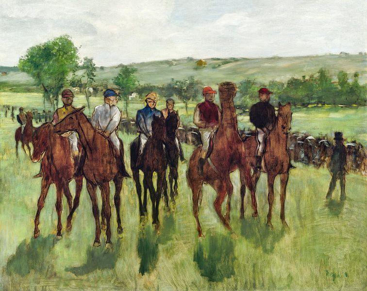 De ruiters, Edgar Degas (ca. 1885) van Atelier Liesjes