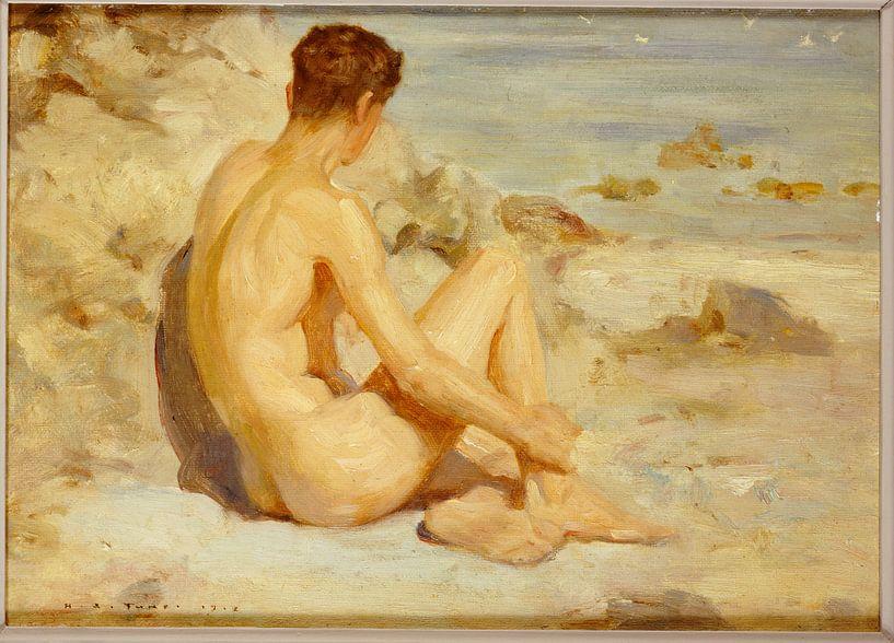 Boy on a Beach, Henry Scott Tuke von Bridgeman Masters