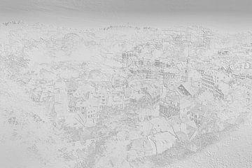 Monschau im Relief - schwarz und weiß von BHotography