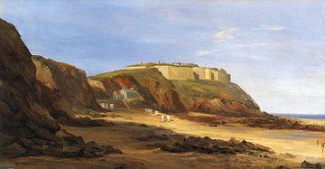 Vue du fort de Gravelingen dans le nord de la France, vers 1840