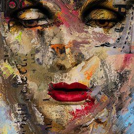 The digital painted face von Gabi Hampe