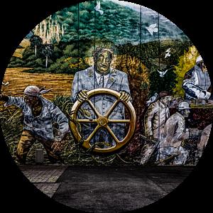 Mural Global Tor 5 - Detail van Petra Dreiling-Schewe