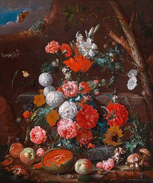 Stillleben mit Blumen und Früchten, Cornelis de Heem von Meesterlijcke Meesters
