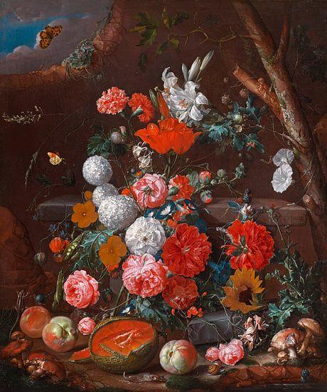 Stilleven met bloemen en fruit, Cornelis de Heem van Meesterlijcke Meesters