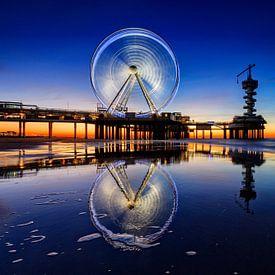 reuzenrad op de Pier van Scheveningen bij avond van gaps photography