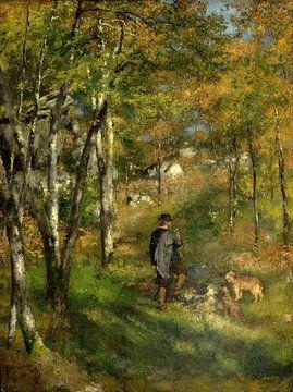 Der Maler Le Coeur auf der Jagd im Wald von Fontainebleau, Pierre-Auguste Renoir