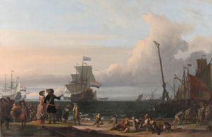 Nederlandse schepen op de rede van Texel, Ludolf Bakhuysen