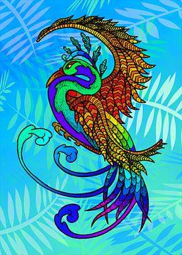 Paradiesvogel von Christa Thieme-Krus