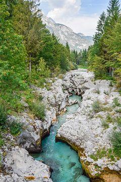 La rivière Soça en Slovénie sur Manon Verijdt