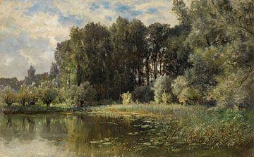 Carlos de Haes-Populärer Wald am Fluss, Antike Landschaft