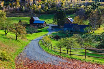 Herfst bij de Sleepy Hollow Boerderij, Woodstock, Vermont van Henk Meijer Photography