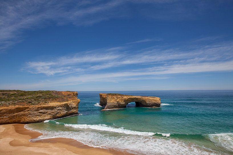 London Arch bij Port Campbell Nationaal Park aan the great ocean road in Victoria, Australia van Tjeerd Kruse