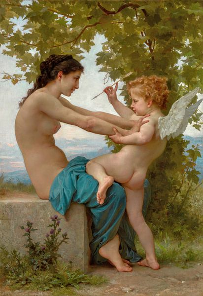 William-Adolphe Bouguereau. Cupido, 1879 van 1000 Schilderijen