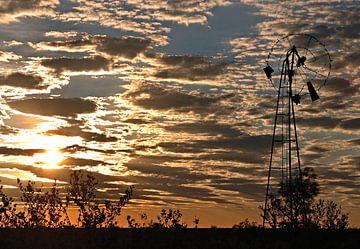 Watermolen in zonsondergang von Exiit Photography