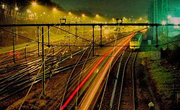 Spoorweg in Arnhem von Ronald Jansen