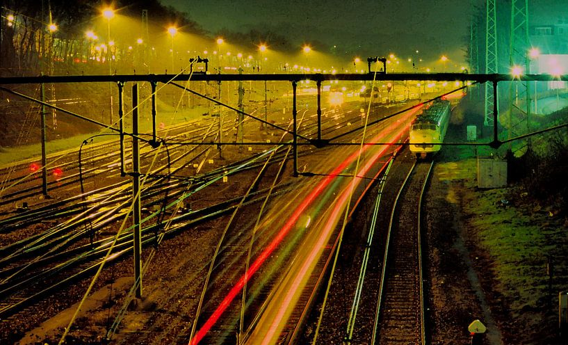 Spoorweg in Arnhem van Ronald Jansen