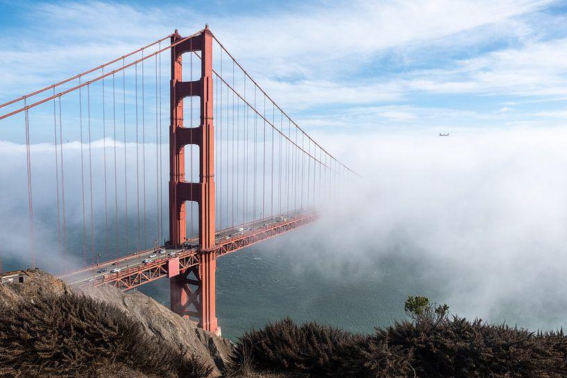 Golden Gate in de mist van John Faber