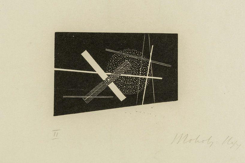 Bauhaus, Compositie (kruis en cirkel) - László Moholy-Nagy, 1923 van Atelier Liesjes