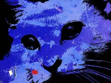 Kattenkunst - Indy 3 van MoArt (Maurice Heuts)