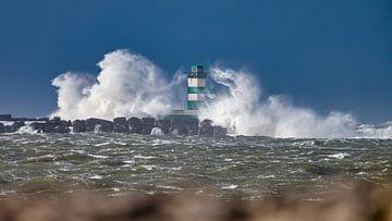 Leuchtturm im Sturm von Menno Schaefer