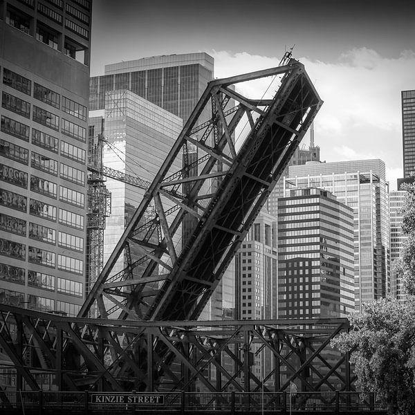 CHICAGO Kinzie Street Railroad Bridge van Melanie Viola