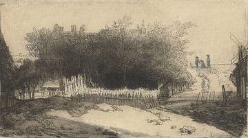 Landschaft mit weißem Zaun, Philips Koninck, 1659
