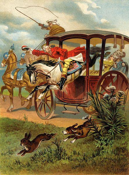 Gottfried Franz, Munchhausen saute dans le carrosse - 1896 sur Atelier Liesjes