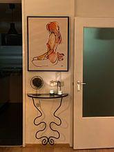 Photo de nos clients: Naakt inkt waterverf sur Pieter Hogenbirk, sur toile
